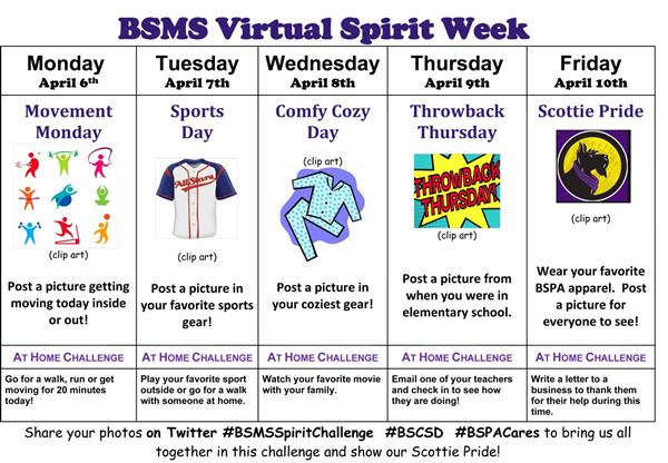 BSMS Family Show Your Spirit Virtually!