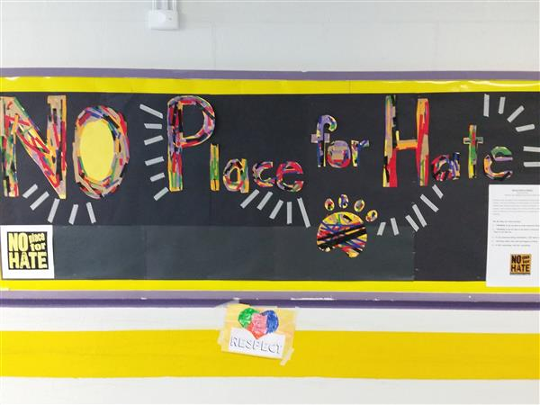 "Students Create Display to Promote ""No Place for Hate"" At B.S.M.S."