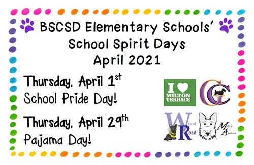 Aprils School Spirit Days