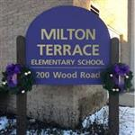 Milton Terrace sign in winter