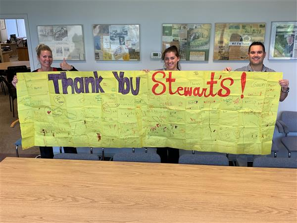 Stewarts Receive Thank You From GC