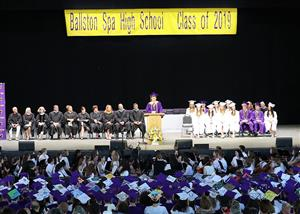 BSHS Class of 2019 - AH addresses the crowd