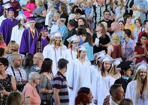 BSHS Class of 2019 - enters SPAC for ceremony
