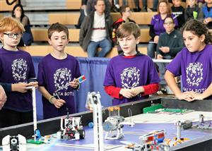 Ballston Spa Elementary team members at FLL Competition