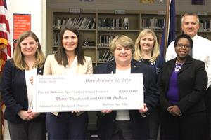 Ballston Spa Elks Lodge 2619 Presents Check