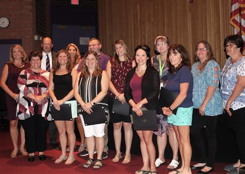 Staff Members Honored for Contributions