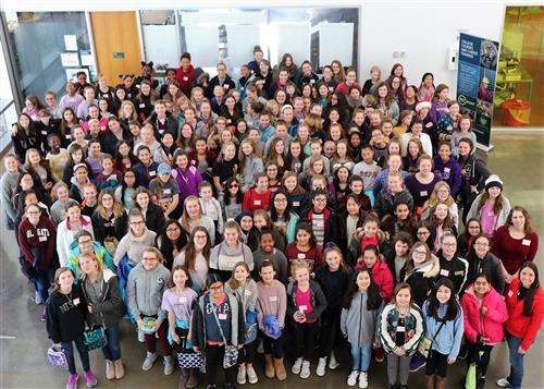 Ballston Spa Girls Learn About STEM Careers at 2018 Summit