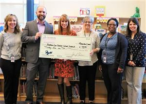 Gordon Creek Attendance Committee Receives Donation from Marvin and Co.