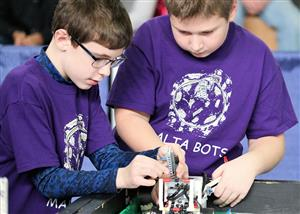 Malta Bots team members  at FLL Competition