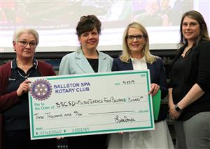 Rotary Club of Ballston Spa Presents Support to MT Back Pack Program