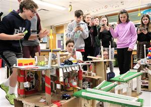 Rube Goldberg Simple Machine unit in 7th Grade Science at BSMS
