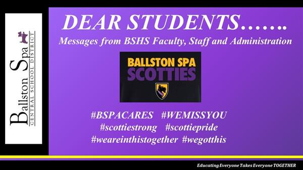 BSHS Staff Message to Students