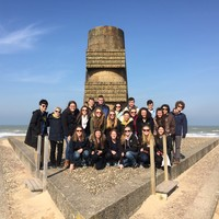 BSHS French exchange students at Omaha Beach in Normandy, France